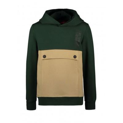 Φούτερ αγοριού με κουκουλα σε πράσινο χρώμα με τσέπη μεγάλη της Τygo & Vito  X108-6330-360