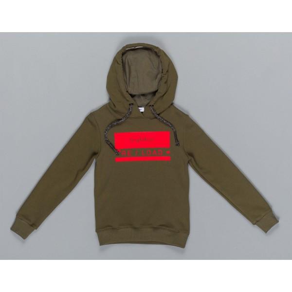 Μπλούζα αγοριού σε χακί χρώμα με κουκούλα της εταιρίας ΒYBLOS BU4883