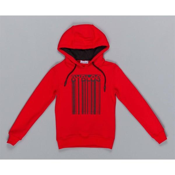 Μπλούζα αγοριού φούτερ σε κόκκινο χρώμα με κουκούλα της εταιρίας ΒYBLOS BU4890
