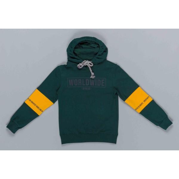 Μπλούζα αγοριού φούτερ σε πράσινο/κίτρινο  χρώμα με κουκούλα της εταιρίας ΒYBLOS BU4932