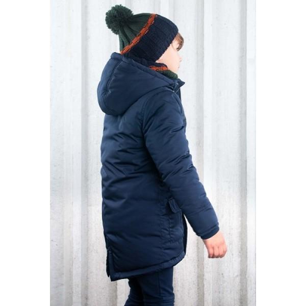 Μπουφάν αγοριού σε μπλε χρώμα με επένδυση πολύ ζεστό με κουκούλα της εταιρίας B.NOSY Y107-6211_129