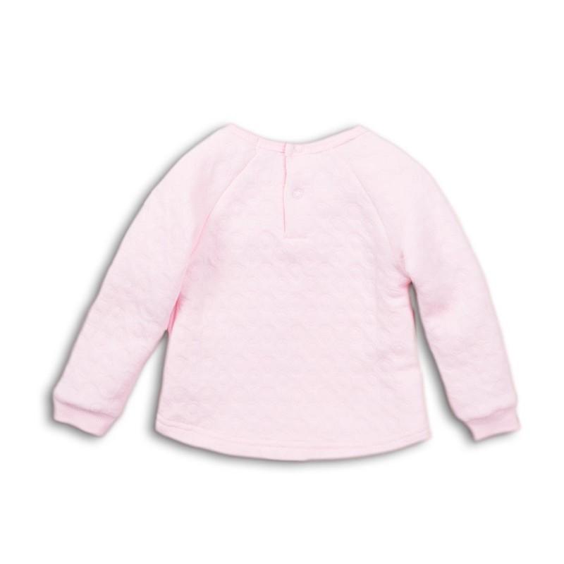 Μπλούζα κοριτσιού φούτερ βαμβακερή σε υπέροχο ροζ χρώμα με σχέδιο στο μπροστινό μέρος της εταιρίας Dirkje