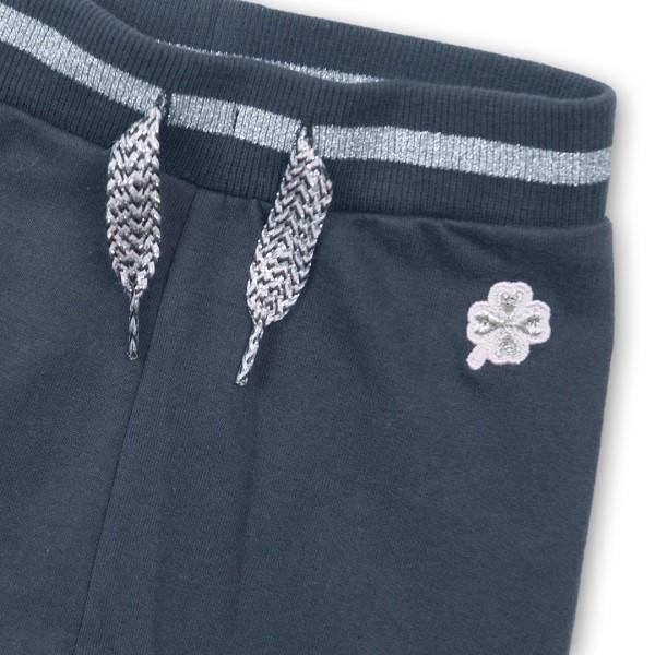 Παντελόνι φόρμας κοριτσιού βαμβακερή σε μπλε χρώμα με κορδόνι ασημί στη μέση της εταιρίας Dirkje