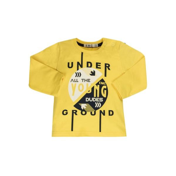 Μπλουζάκι κίτρινο αγοριού με σχέδια EMC BX1833206076