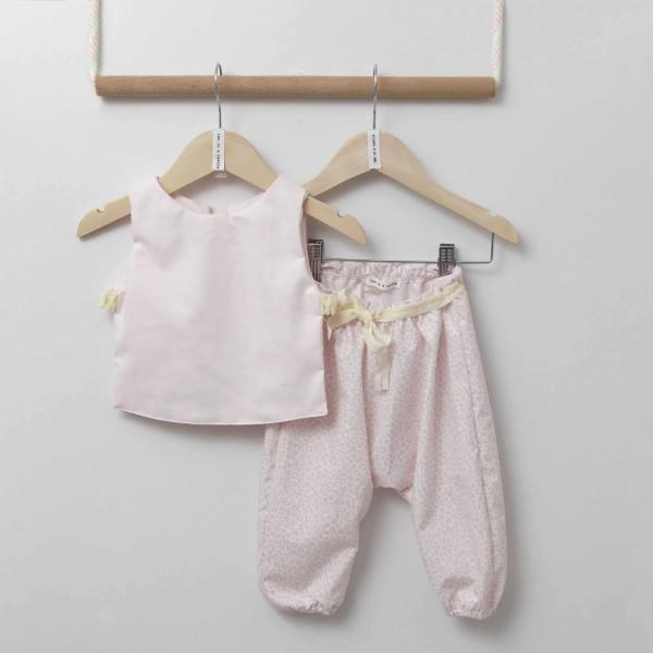 Σετ κοριτσιού μπλουζάκι & παντελόνι σε ροζ χρώμα Two in a Castle