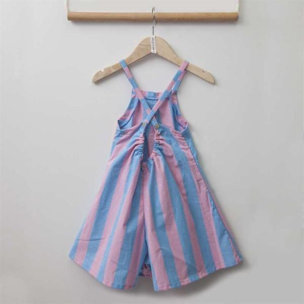 Ολόσωμη καλοκαιρινή φόρμα κοριτσιού σε παστέλ αποχρώσεις σιέλ & φούξια χρώμα Two in a Castle