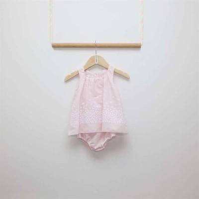 Ολόσωμο καλοκαιρινό φορμάκι κοριτσιού σε ροζ χρώμα Two in a Castle