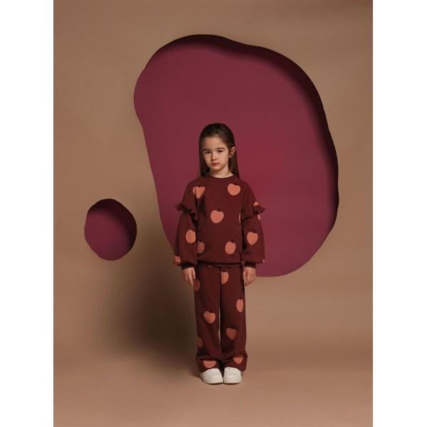 Παντελόνα φούτερ κοριτσιού hot chocolate κερασί χρώμα της εταιρίας YELL-OH! 42170348033