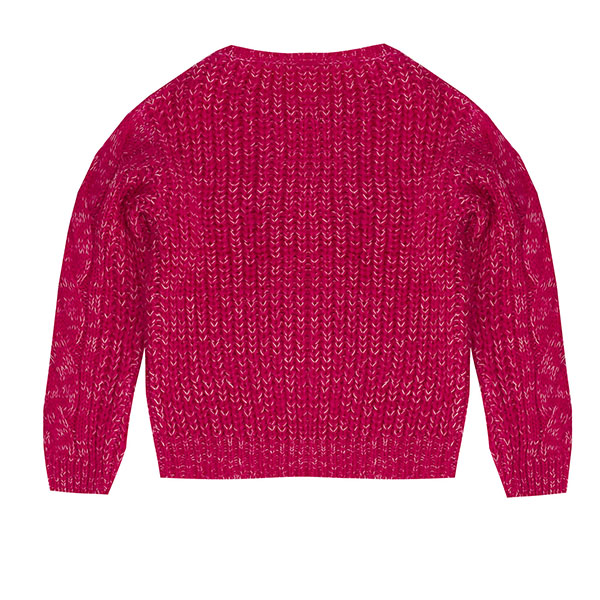 Μπλουζάκι κοριτσιού πλεκτό σε φούξια χρώμα UBS2 H215300_999