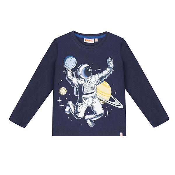 Μπλούζα αγοριού με σχέδιo διάστημα σε μπλε χρώμα UBS2 H219546_999