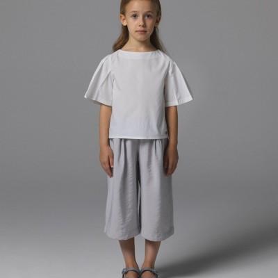 Μπλούζα κοριτσιού με πιέτες στο μανίκι σε λευκό χρώμα της εταιρίας YELL-OH!
