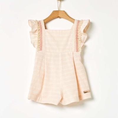 Σαλοπέτα κοριτσιού ροζ χρώμα με βολάν της εταιρίας YELL-OH!
