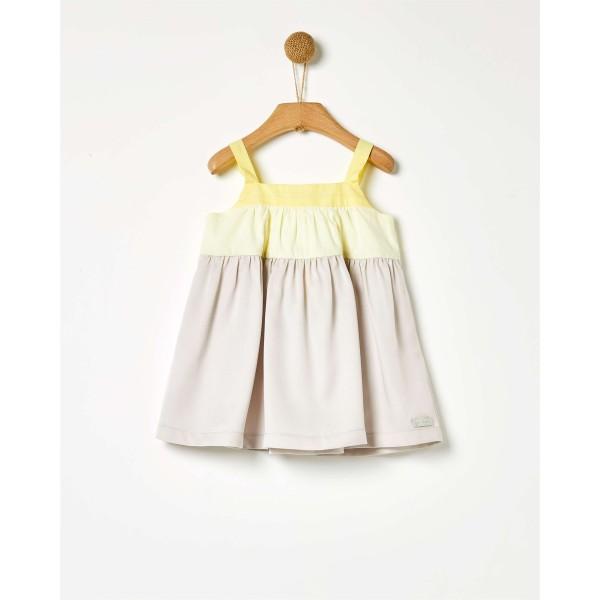 Φόρεμα κοριτσιού γκρι Three-Tones της εταιρίας YELL-OH!
