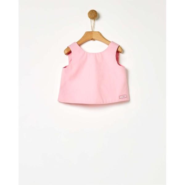 Τοπ με φιογκάκια κοριτσιού σε ροζ χρώμα parfait της εταιρίας YELL-OH!