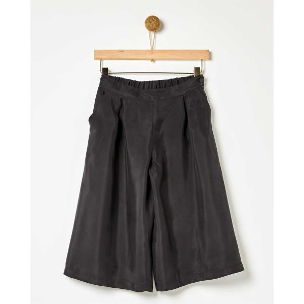 Παντελόνα ζιπ κιλοτ κοριτσιού μαύρη της εταιρίας YELL-OH!