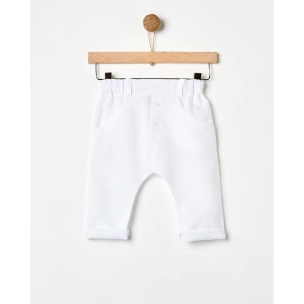 Παντελόνι αγοριού Λινό Λευκό της εταιρίας YELL-OH!