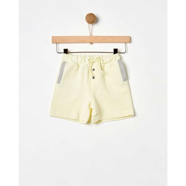 Σορτς κοριτσιτσιού κίτρινο με γκρι λεπτομέρεια της εταιρίας YELL-OH!