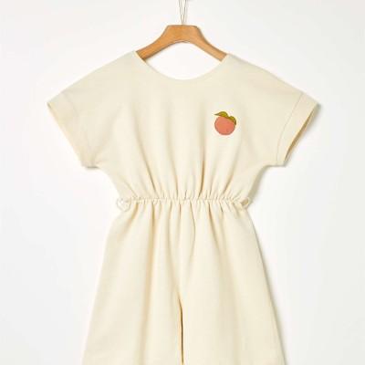 Φόρμα ολόσωμη κοριτσιού κοντή σε κίτρινο παστέλ χρώμα  της εταιρίας YELL-OH!
