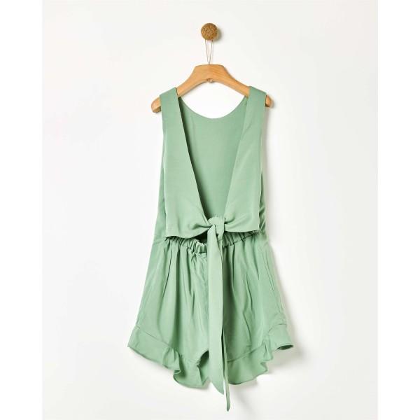 Φόρμα ολόσωμη κοριτσιού πράσινη κοντή της εταιρίας YELL-OH!