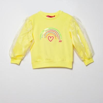 Μπλούζα κοριτσιού κίτρινο  χρώμα με σχέδιο ουράνιο τόξο της εταιρίας AGATHA 7SS3122