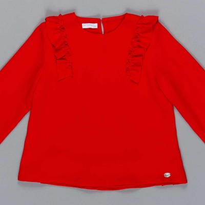 Μπλούζα κοριτσιού κόκκινο χρώμα με λεπτομέρεια  φρου φρου Artigli  A12333
