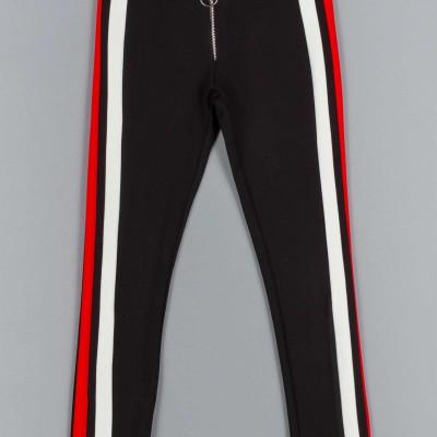Παντελόνι κοριτσιού μαύρο χρώμα με λεπτομέρεια  στο πλάι ρίγα Artigli  A12348