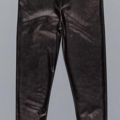 Παντελόνι κοριτσιού μαύρο χρώμα δερματίνη Artigli A12356