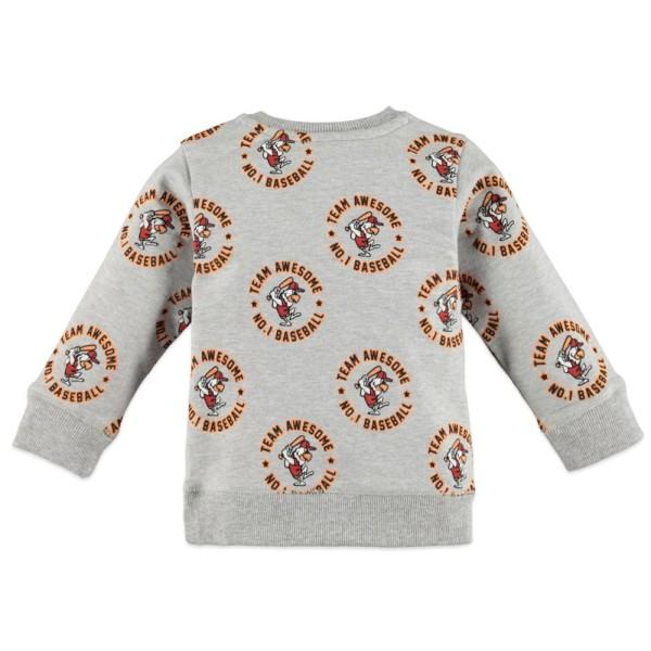 Μπλουζάκι αγοριού φούτερ σε γκρι χρώμα με σχέδιο φιγούρα της εταιρίας Babyface