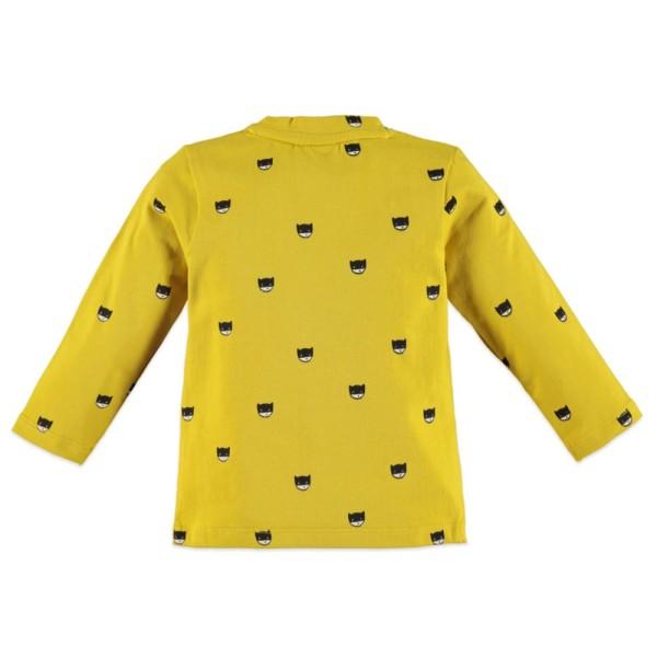 Μπλούζα φούτερ αγοριού σε υπέροχο κίτρινο χρώμα  με σχέδιο WOW στο μπροστινό μέρος της εταιρίας Babyface