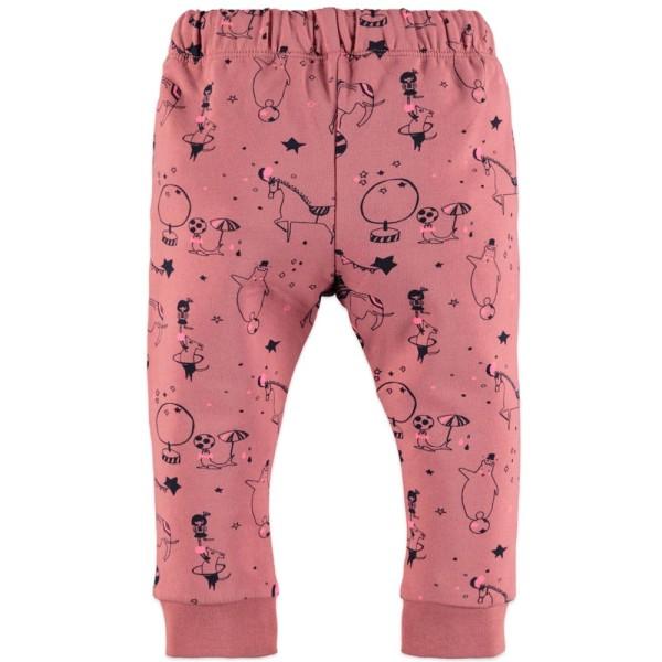 Παντελόνι φόρμας κοριτσιού με κορδόνι στη μέση και τσέπες σε ροζ χρώμα με χαριτωμένα σχέδια απο ζωάκι της εταιρίας Babyface