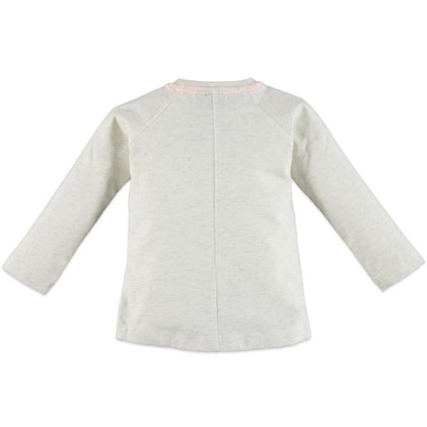 Μπλουζάκι κοριτσιού σε ανοικτό γκρι χρώμα με σχέδιο στο μπροστινό μέρος της εταιρίας Babyface