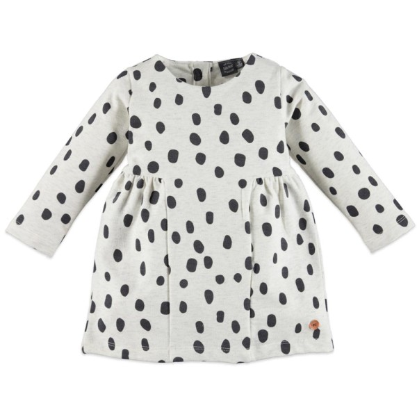 Μπλουζoφόρεμα κοριτσιού σε ανοικτό γκρι χρώμα με σχέδια βούλες σε μαύρο χρώμα της εταιρίας Babyface