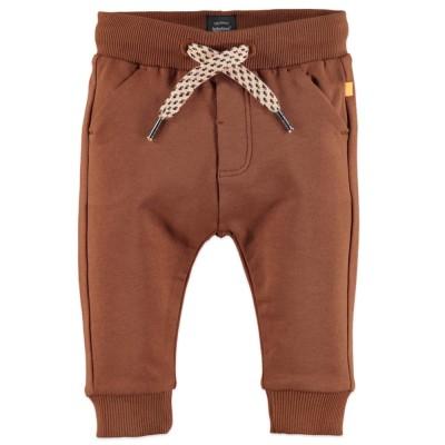 Παντελόνι φόρμας αγοριού σε καφέ ταμπα χρώμα της εταιρίας Babyface με δέσιμο στη μέση κορδόνι