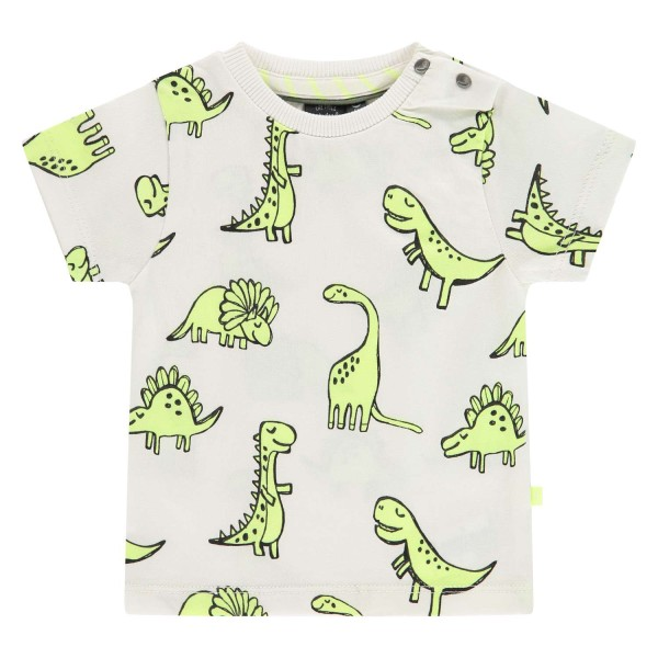 T-shirt βρεφικό σε λευκό χρώμα με σχέδιο δεινοσαυράκια της εταιρίας Babyface