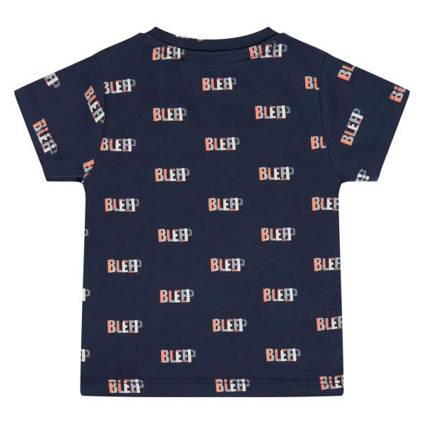 T-shirt βρεφικό σε μπλέ χρώμα με σχέδια τύπωμα της εταιρίας Babyface