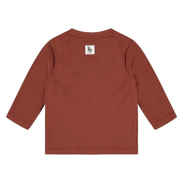 Μπλουζάκι αγοριού newborn σε καφε χρώμα σχέδιο ζωάκι πάντα της εταιρίας Babyface NWB21527621