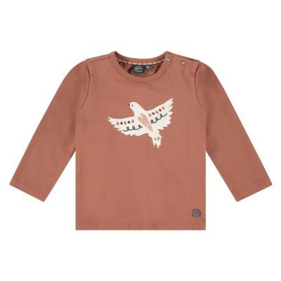 Μπλουζάκι κοριτσιού σε κεραμιδί χρώμα με σχέδιο πουλάκι της εταιρία Babyface BBE21408660