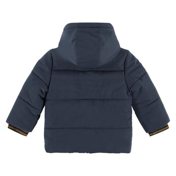 Μπουφάν αγοριού με κουκούλα σε μπλε χρώμα με φερμουάρ που κλείνει & κουμπιά της εταιρίας Babyface  BBE21507175