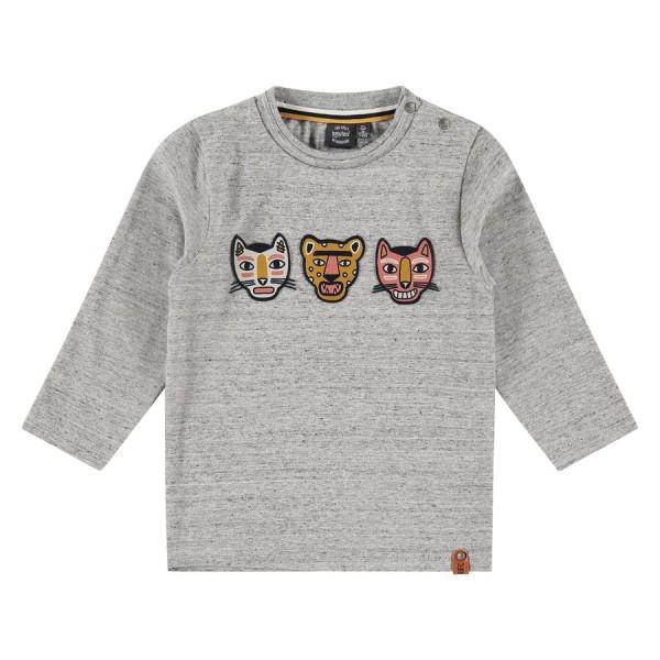 Μπλούζα αγοριού σε γκρι χρώμα με λεπτομέρειες στο μπροστινό μέρος τίγρις της εταιρίας Babyface BBE21507675