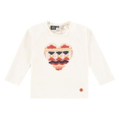 Μπλουζάκι κοριτσιού εκρού χρώμα με σχέδιο στο μπροστινό μέρος της εταιρία Babyface BBE21508676