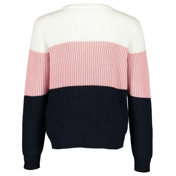 Mπλούζα pullover με λεπτομέρεια ρίγες 3χρωμο BLUE SEVEN 576160