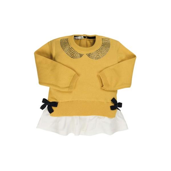 Μπλούζα κοριτσιού πλεκτή κίτρινο χρώμα EMC CE1678906001