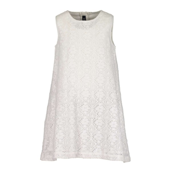Φόρεμα λευκό κοφτό υφασμάτινο αμάνικο κορίτσι Blue seven