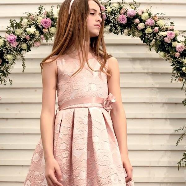 Φόρεμα σάπιο μήλο αμάνικο με ζώνη φερμουάρ κορίτσι sarah chole