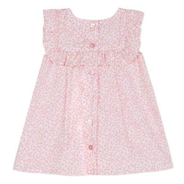 Φόρεμα ροζ με λουλούδια υφασμάτινο Absorba