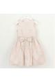 Φόρεμα ροζ προ καρτ με ζώνη φερμουάρ petit