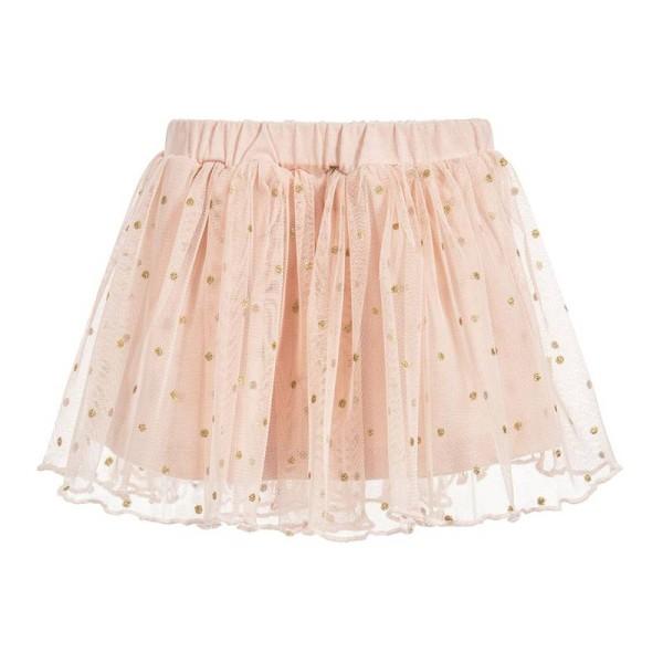 Φούστα κοριτσιού ρόζ με πιέτες και λάστιχο στη μέση 3Pommes