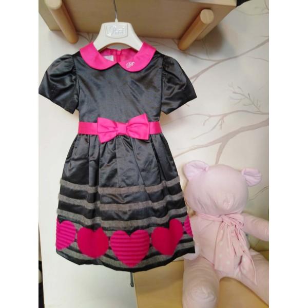 Φόρεμα για κοριτσάκι μαύρο - ροζ Petit