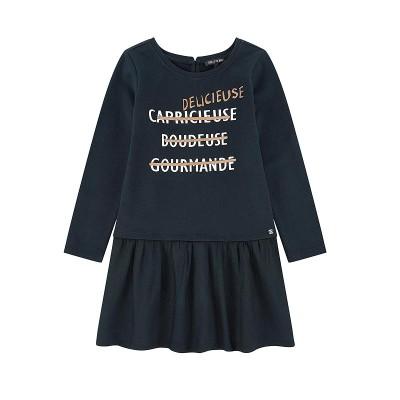 Φόρεμα κοριτσιού μπλέ μακρυμάνικο Sorry 4 the Mess