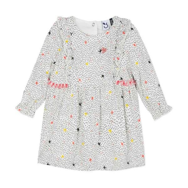 Φόρεμα υφασματινο φλοραλ μακρύ μανίκι κορίτσι 3pommes